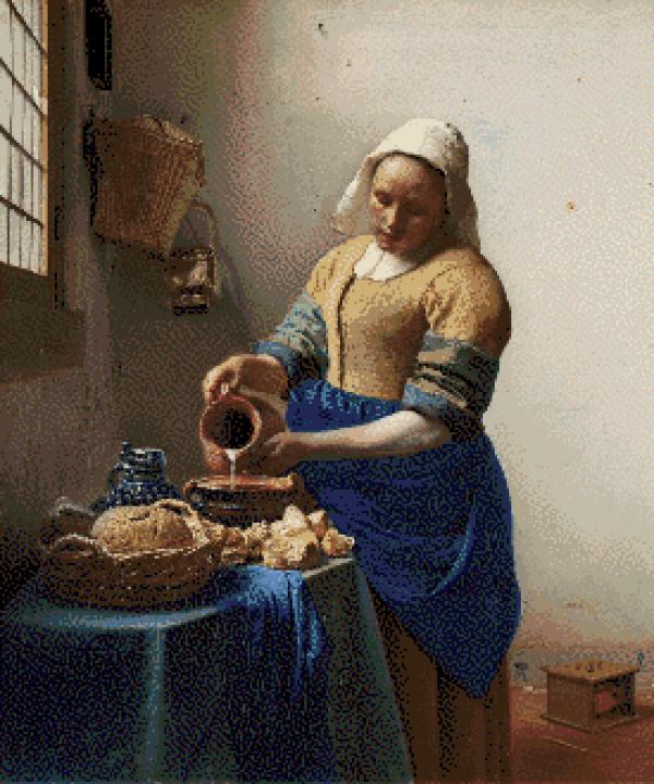 MyHobby borduurpakket - het melkmeisje