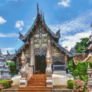 MyHobby borduurpakket - tempel Chaing Mai