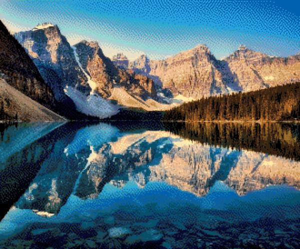 MyHobby borduurpakket - weerspiegeling bergen