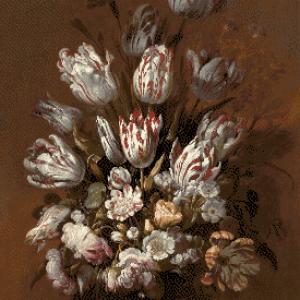 MyHobby borduurpakket - stilleven met bloemen (Bollongier)