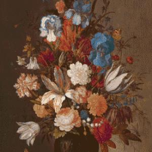 MyHobby borduurpakket - stilleven met bloemen (Van der Ast)