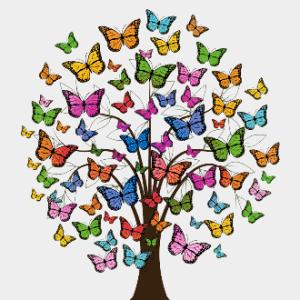 MyHobby borduurpakket - vlinderboom