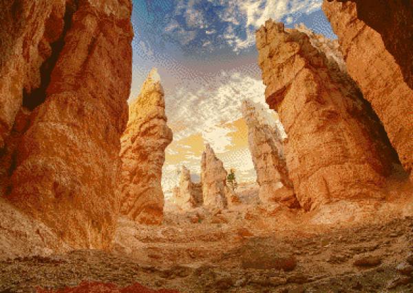 MyHobby borduurpakket - woestijnachtige rotsen