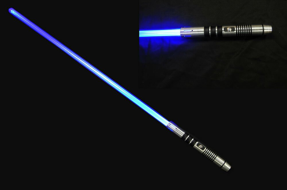 blue lightsaber no sound