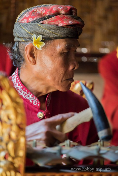 Портрет на музикант - остров Бали, Индонезия