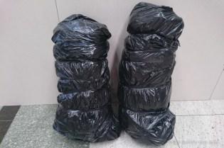 Раниците ни опаковани на летището в Истанбул