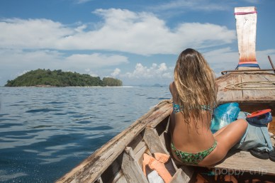 Woman in boat - Phi Phi trip