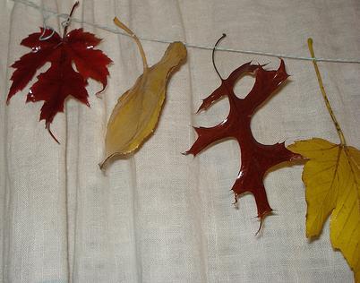 Creatief in de herfst een herfstslinger knutselen  Hobby