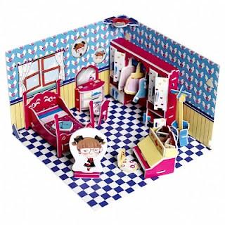 Poppenhuis van karton is betaalbaar en mooi  Hobbyblogonl