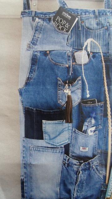 Van oude jeans een opbergzak maken  Hobbyblogonl