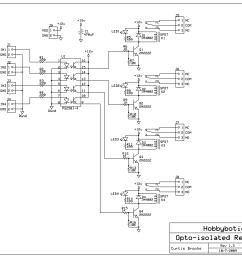 hobbybotics optoisolated relay controller hobbybotics cnc electrical schematics [ 3060 x 2310 Pixel ]