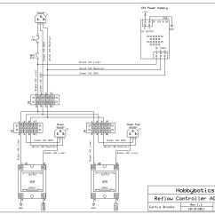 Wiring Circuit Diagram Volleyball 5 1 Offense Hobbybotics Reflow Controller V8 03