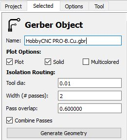 KiCAD Generate Mill Pattern for PC Board Isolation Routing. HobbyCNC