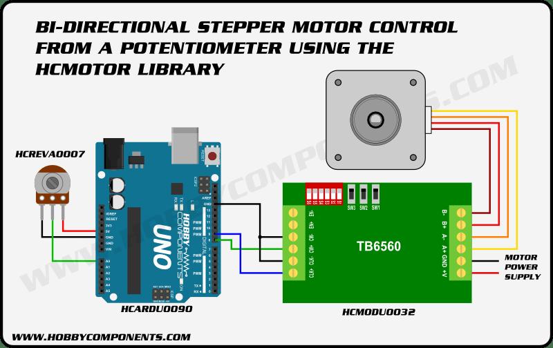 6 wire stepper motor controller
