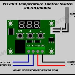 Pir Sensor Wiring Diagram 2007 Honda Civic Headlight W1209 Temperature Control Switch Hobby Components Image
