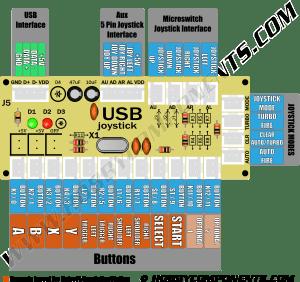 Arcade Zero Delay Interface Board  Hobby Components
