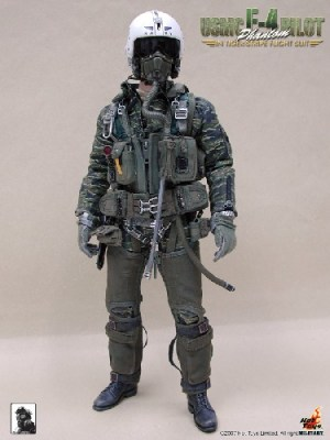 USMC F4 Phantom Pilot In Tiger Stripe Flight Suit
