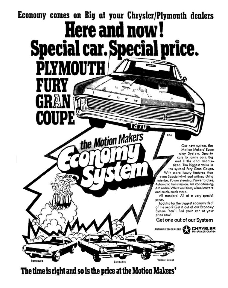 Economy Comes On BigAt Your Chrysler/Plymouth Dealers