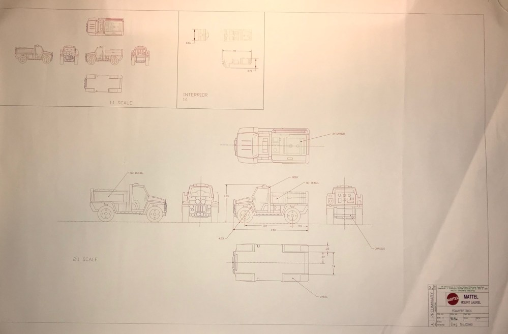 medium resolution of matchbox foam fire truck preliminary drawing drawings and paintings hobbydb