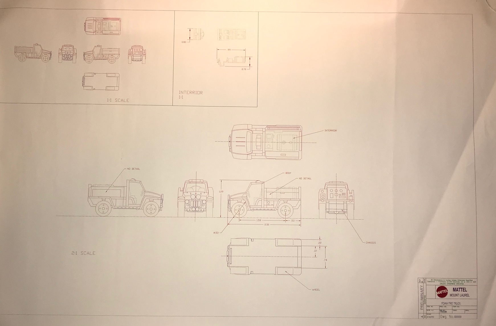 hight resolution of matchbox foam fire truck preliminary drawing drawings and paintings hobbydb
