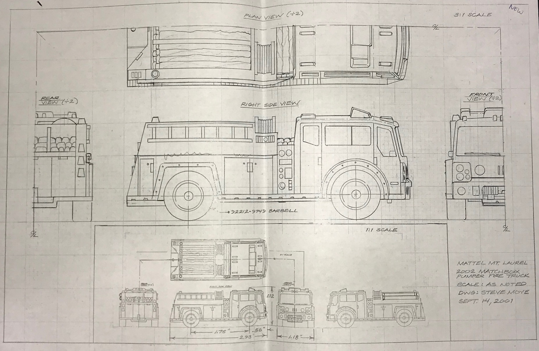 hight resolution of firetruck schematic