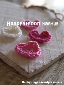Valentijn hartje haken. -- haakpatroon hartje. I www.hobbydingen.wordpress.com