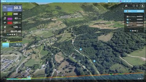 3D kaart ritten rijden in de App van Tacx