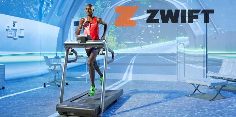 Mo Farah - gratis lopen met Zwift