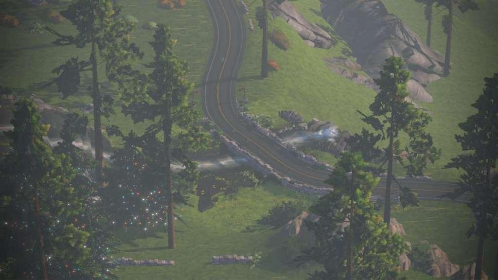 Watopia - Cliffside bypass uit de lucht