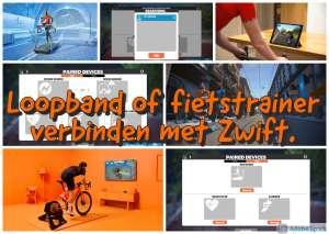 Loopband of fietstrainer verbinden met Zwift