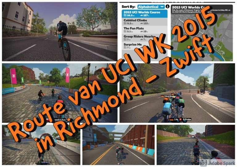 Route van UCI WK 2015 in Richmond - Zwift - uitgelicht