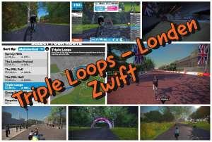 Triple Loops in Londen volgens Zwift