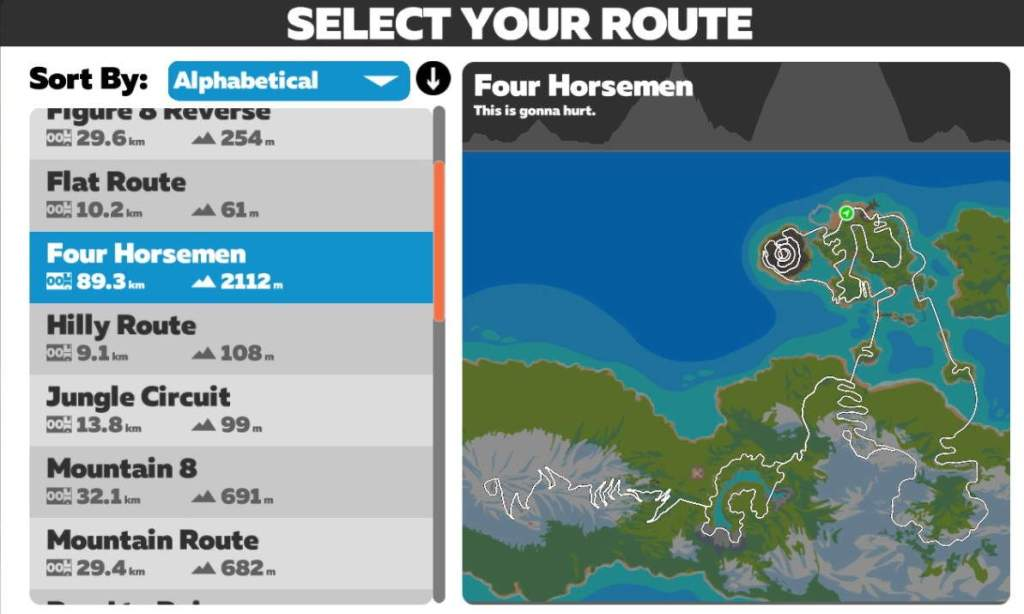 Four Horsemen kaart