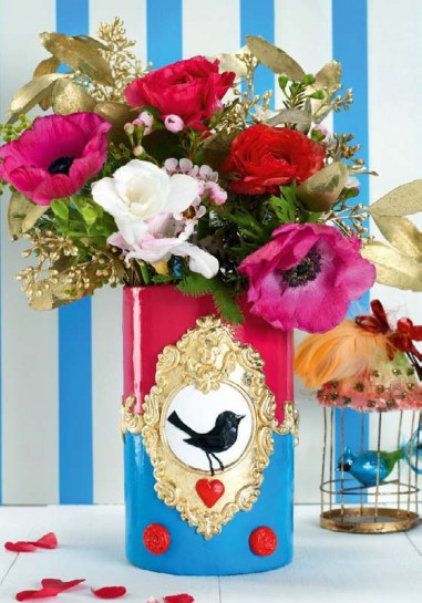 DIY Blumenvase im Bohemian-Stil