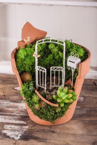 Kleine Gärten im Materialmix für einen frischen Look im Zuhause