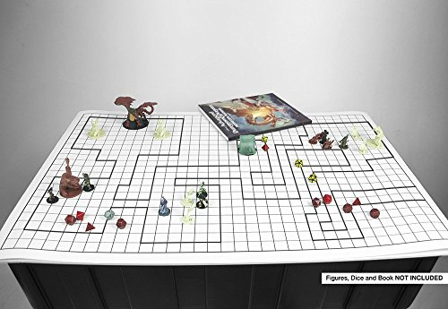 Cozy Battle Grid Game Mat 36 X 24 1 Inch Role Playing Dnd - Yamsixteen