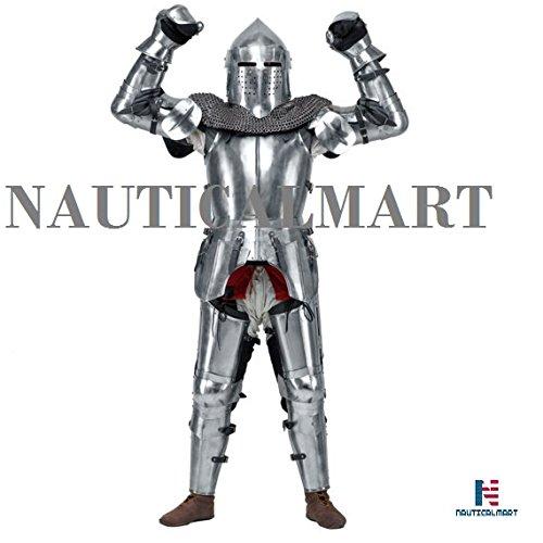 Medieval Knight's Armor SCA LARP steel fantasy battle
