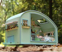 Rylai Wooden Handmade Dollhouse Miniature DIY Kit  Time ...