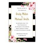100-Wedding-Invitations-Gold-Black-Pink-Floral-Design-Envelopes-Response-Cards-Set-0-0