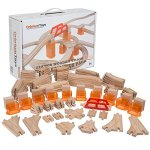 110-PCs-Orbrium-Toys-Multi-Level-Wooden-Train-Track-Expansion-Pack-with-Stackable-Track-Riser-Stabilizers-Generic-Fits-Thomas-Brio-Chuggington-Set-0