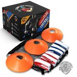 14-Player-Flag-Football-Set-with-3-Flags-per-Belt-Includes-12-Field-Cones-and-Mesh-Bag-Premium-68-Piece-Heavy-Duty-Kit-0-0