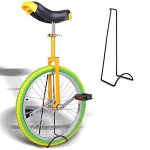 20-Inches-Wheel-Skid-Proof-Tread-Pattern-Unicycle-W-Stand-Uni-Cycle-Bike-Cycling-YELLOW-GREEN-0-0