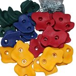 20-Large-Premium-Kids-Rock-Climbing-Wall-Holds-with-Hardware-Screws-for-Children-Outdoor-Playground-assorted-holds-and-bolts-by-Rock-Vein-0