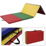 4x10x2-Thick-Folding-Panel-Gymnastics-Mat-Gym-Fitness-Exercise-Multicolor-0-0
