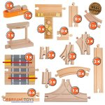 58-Piece-Wooden-Train-Track-Expansion-Pack-Featuring-Container-Ship-Ship-Dock-Train-Station-Rail-Road-Crossing-Compatible-with-Thomas-Wooden-Railway-Brio-Chuggington-Melissa-Doug-Imaginarium-Set-0-0