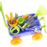 AMPERSAND-SHOPS-Kids-Garden-Wagon-Tools-Play-Set-0-2