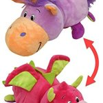 AS-SEEN-ON-TV-FlipaZoo-16-Plush-2-in-1-Pillow-Lavendar-Unicorn-Transforming-to-Pink-Dragon-The-Toy-That-Flips-For-You-0