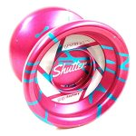 AUTHENTIC-Pink-and-Aqua-SHUTTER-SPLASH-Yoyo-by-YoYoFactory-0