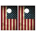 American-Flag-Cornhole-Game-Patriotic-Bag-Toss-Game-8-Bags-included-Wooden-Boards-0-0