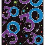 Amscan-Continuous-30th-Birthday-Party-Table-Cover-Multi-54-x-96-Plastic-Childrens-Tablecovers-6-Piece-0